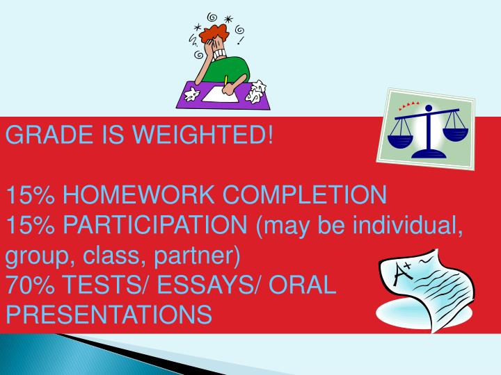 GRADE IS WEIGHTED!