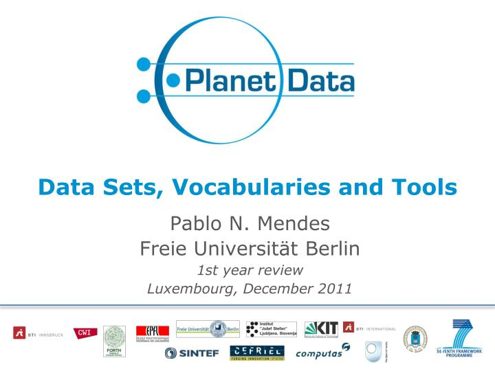 data sets vocabularies and tools