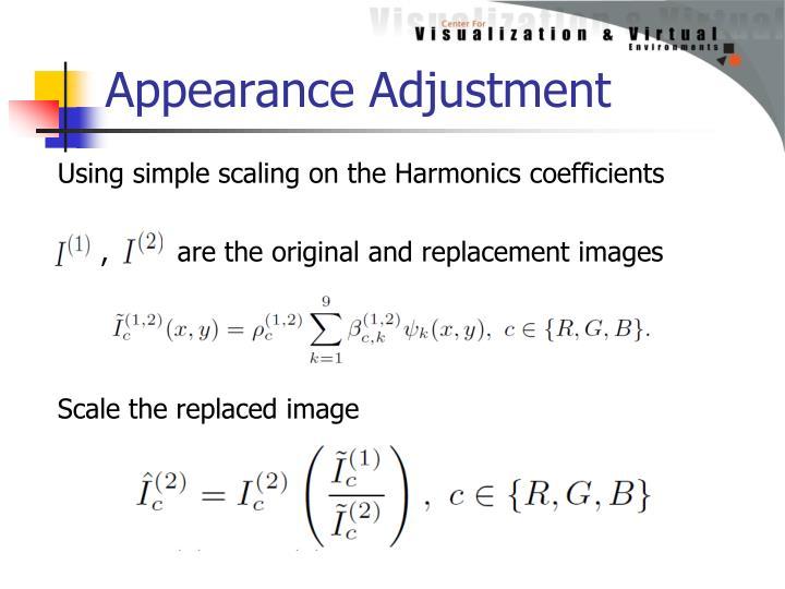 Appearance Adjustment