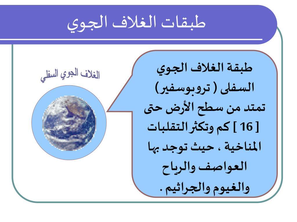 Ppt طبقات الغلاف الجوي Powerpoint Presentation Free Download Id 4659740