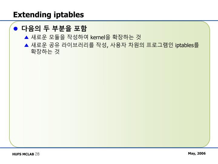 Extending iptables