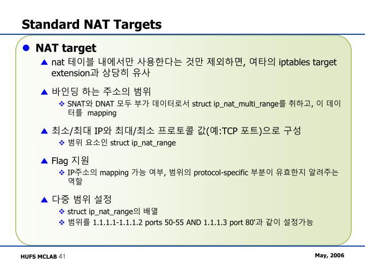 Standard NAT Targets
