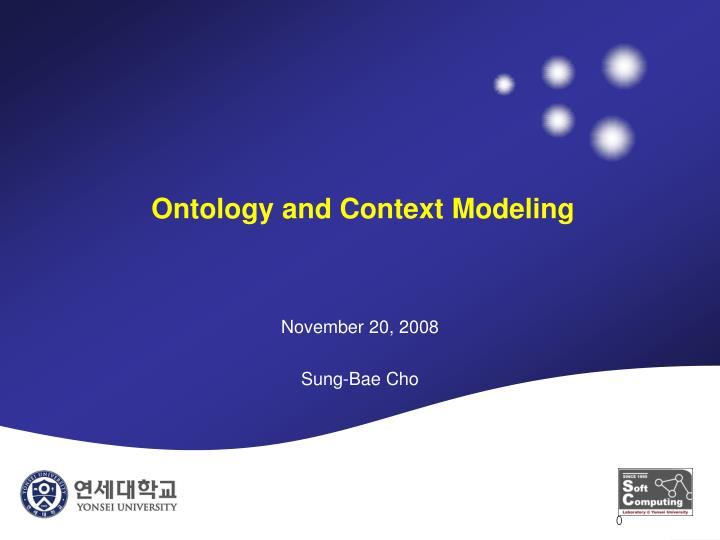 ontology and context modeling n.
