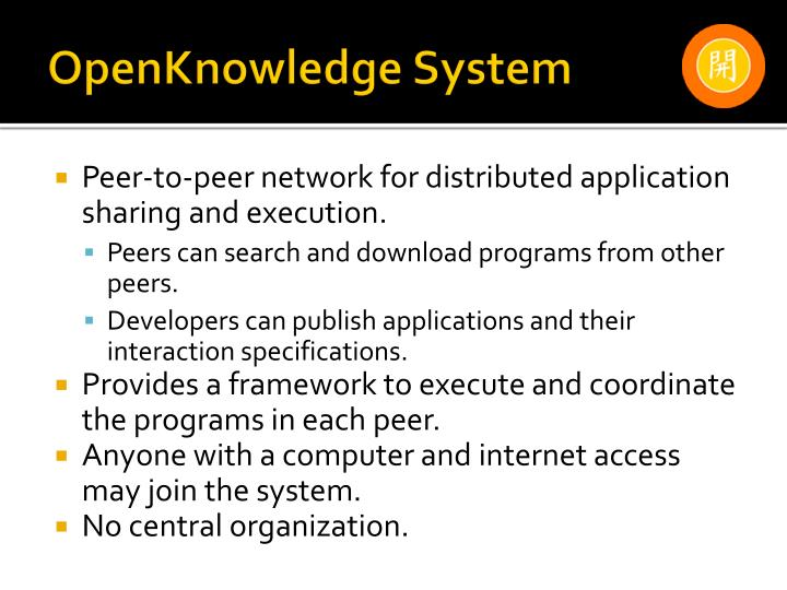 Openknowledge system