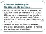 controle metrol gico medidores eletr nicos