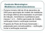 controle metrol gico medidores eletromec nicos