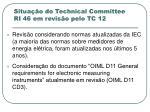 situa o do technical committee ri 46 em revis o pelo tc 12