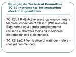 situa o do technical committee tc 12 instruments for measuring electrical quantities
