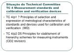 situa o do technical committee tc 4 measurement standards and calibration and verification devices