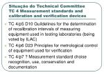 situa o do technical committee tc 4 measurement standards and calibration and verification devices1