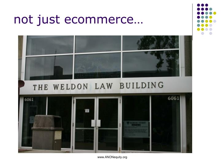 not just ecommerce…