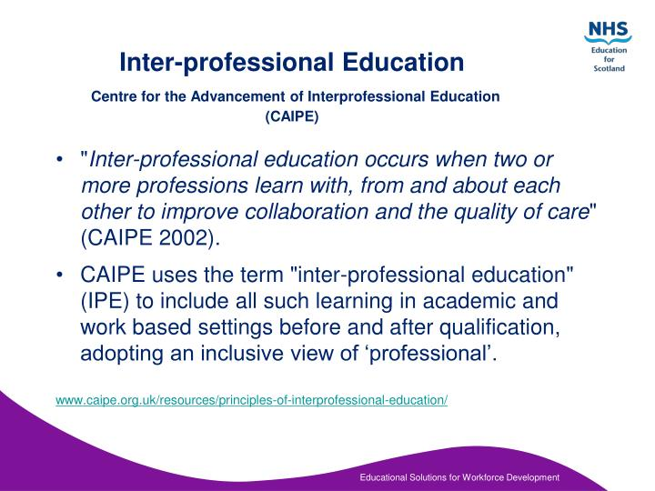 how can inter proffesional working improve the The investigations provide evidence that collaborative working can only improve outcomes and underpins the real need to find out how best to develop a work force that can work together effectively (leathard, 1994, anderson et al, 2006 and weinstein et al, 2003.
