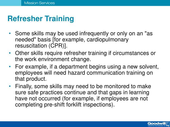 Refresher Training