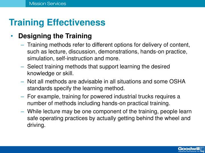 Training Effectiveness