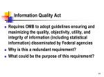 information quality act