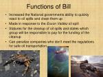 functions of bill