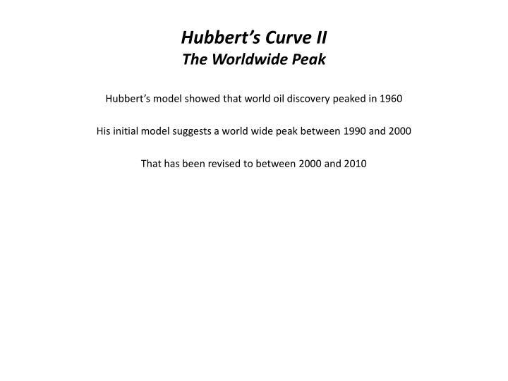 Hubbert's Curve II