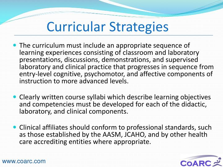 Curricular Strategies