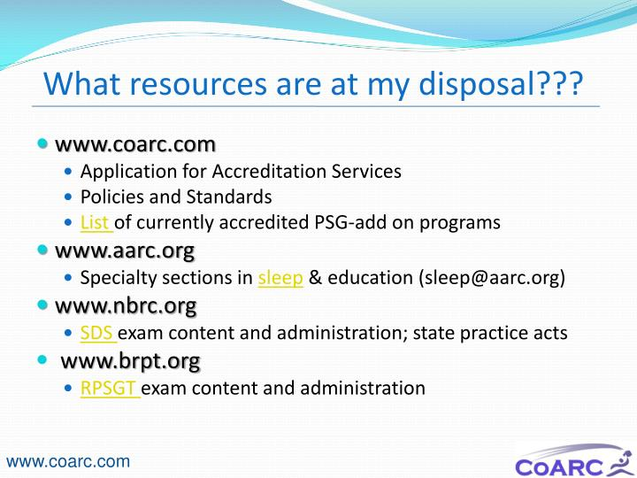 What resources are at my disposal???