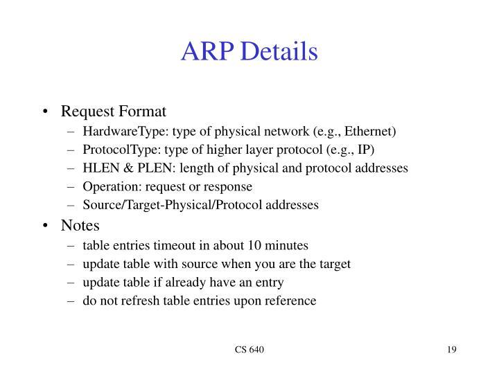 ARP Details