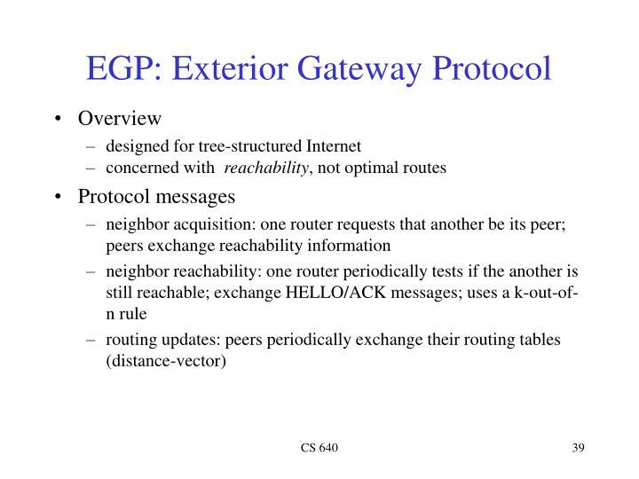 EGP: Exterior Gateway Protocol
