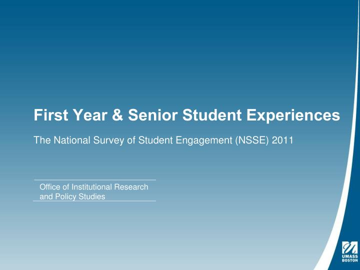 first year senior student experiences n.