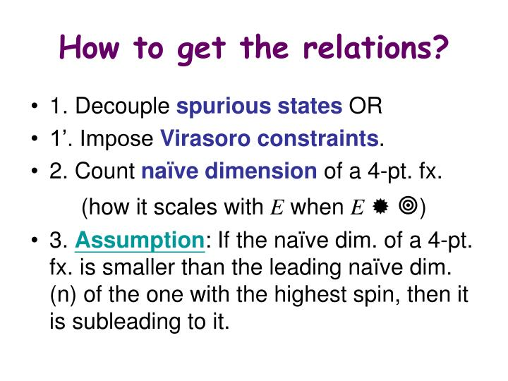 How to get the relations?