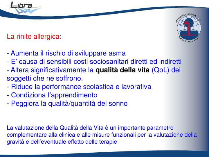 La rinite allergica: