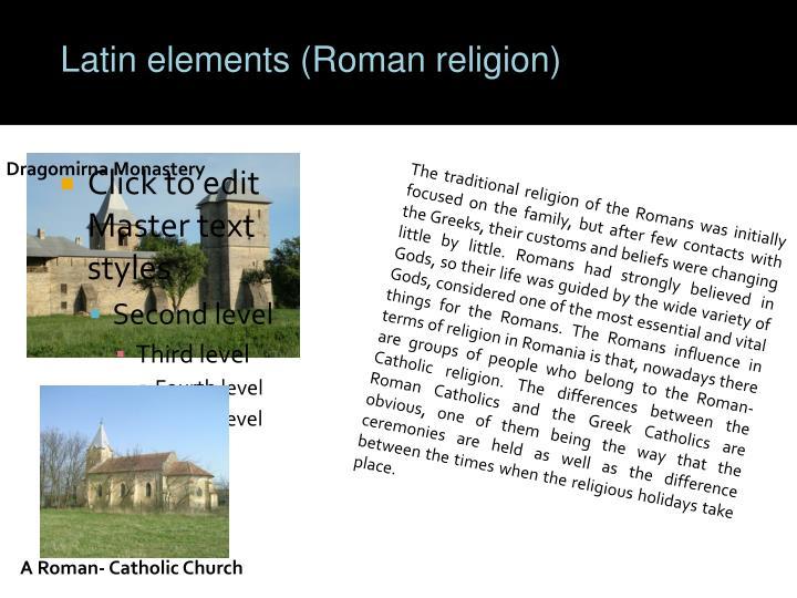 Latin elements (Roman religion)