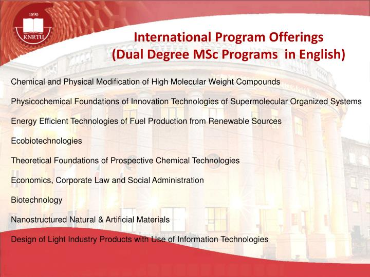 International Program Offerings