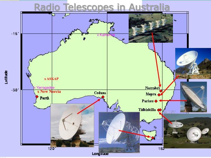 Radio Telescopes in Australia