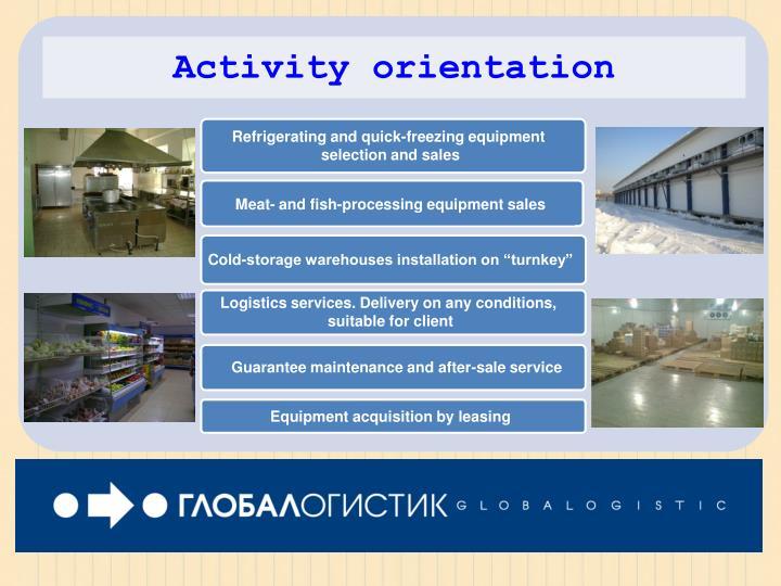Activity orientation