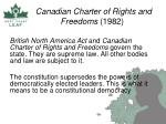 canadian charter of rights and freedoms 1982