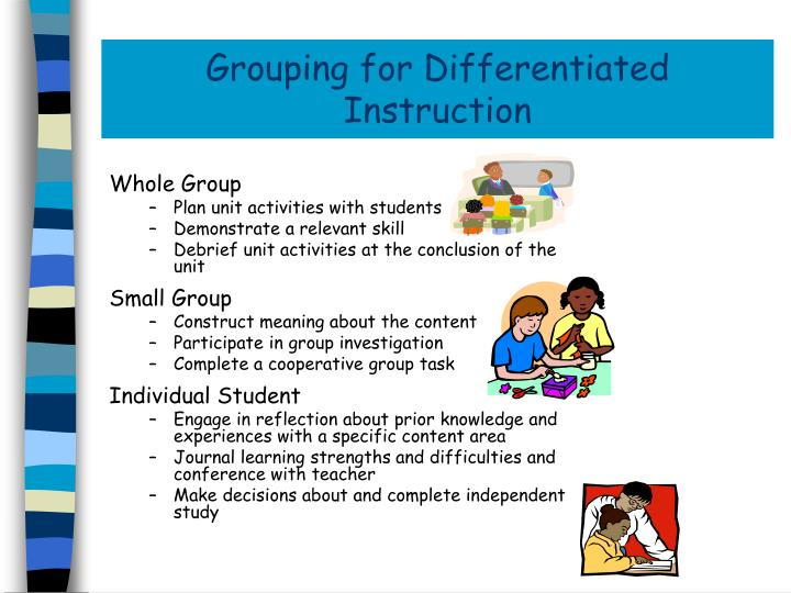 Grouping for Differentiated Instruction