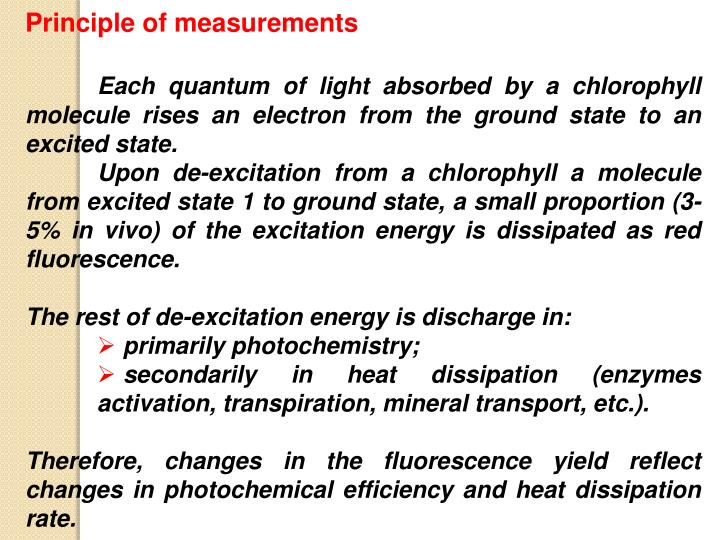 Principle of measurements