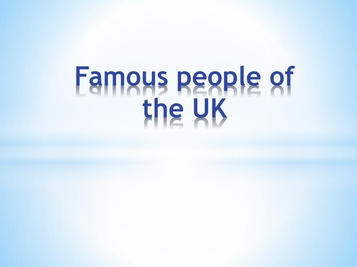 famous people of the uk n.