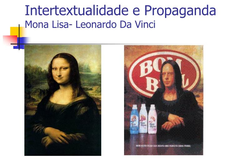 Intertextualidade e Propaganda