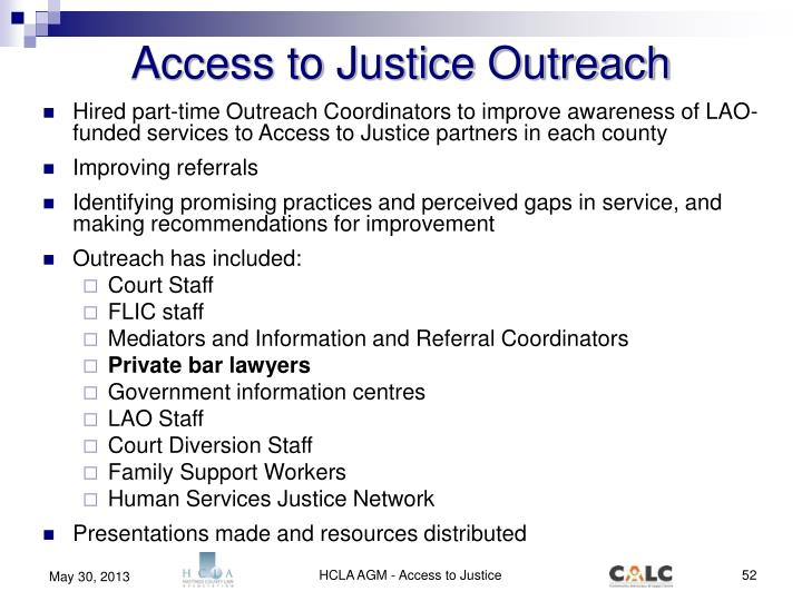 Access to Justice Outreach