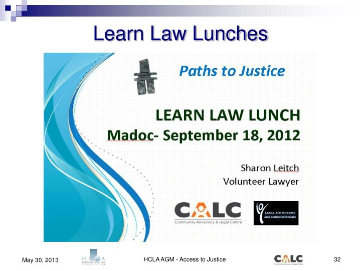 Learn Law Lunches