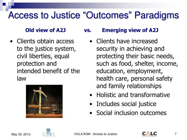 "Access to Justice ""Outcomes"" Paradigms"