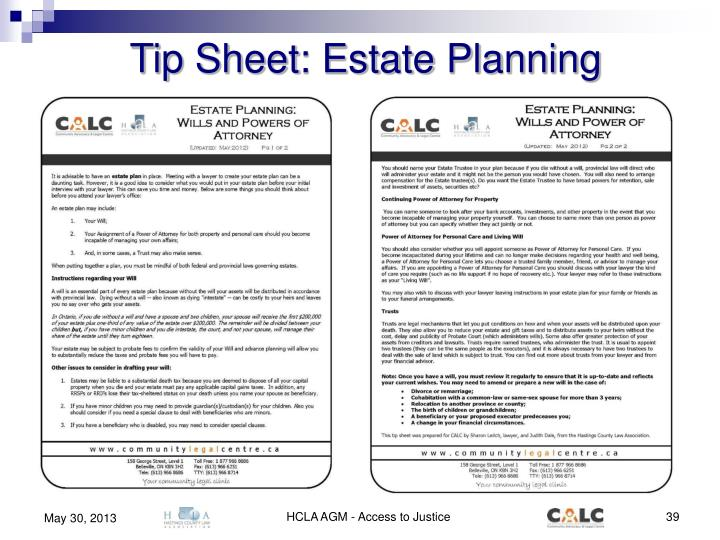 Tip Sheet: Estate Planning