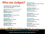 who are judges