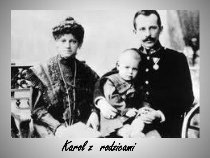 Karol z  rodzicami