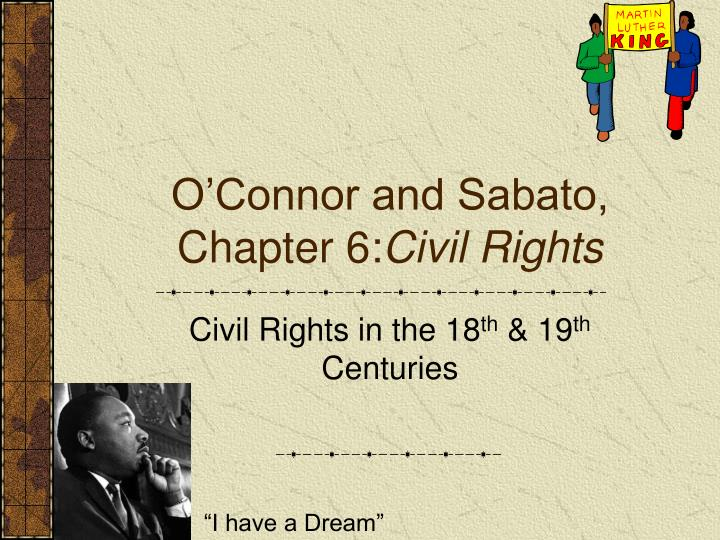 o connor and sabato chapter 6 civil rights n.