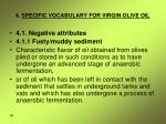 4 specific vocabulary for virgin olive oil