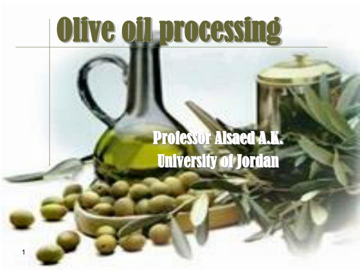 olive oil processing