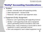 entity accounting considerations