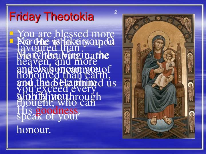 Friday Theotokia
