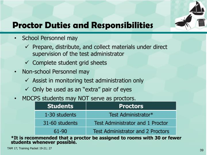 Proctor Duties and Responsibilities