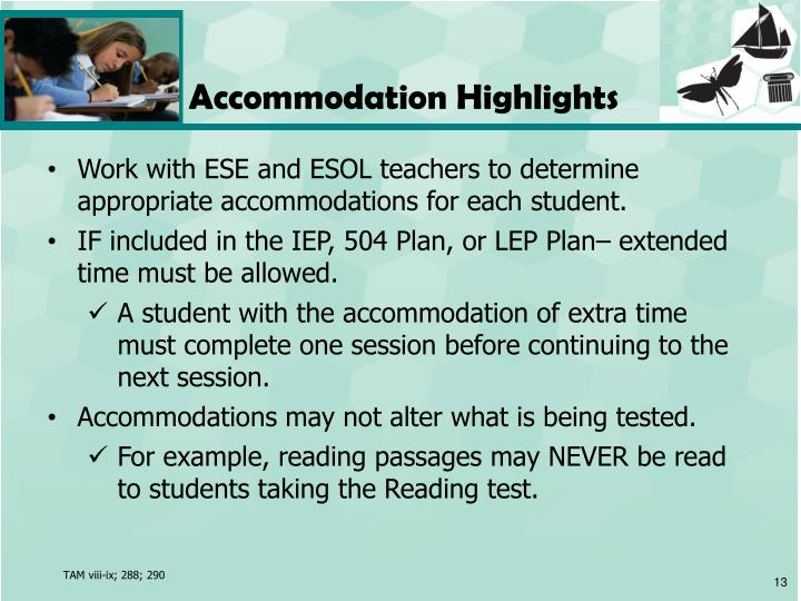 Accommodation Highlights